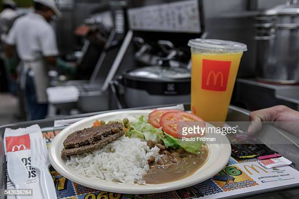 The meals that are served to the employees at Alphaville McDonald's store Barueri Brazil