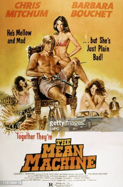 The Mean Machine poster Christopher Mitchum Barbara Bouchet 1973