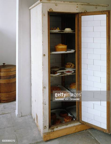 The Meat Safe in the Larder at Petworth House, West Sussex