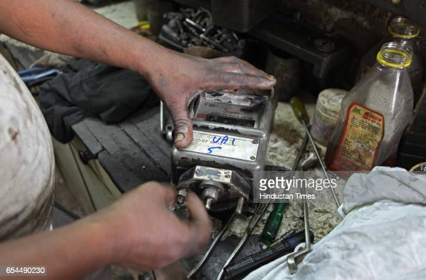 The mechanic unscrews the meter box after breaking its seal The RTO verifies the meter every year and seals it The seal is not supposed to be broken...