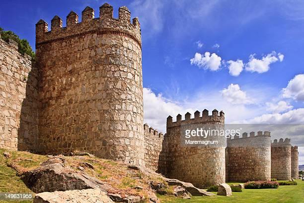 The medeival city walls of Avila