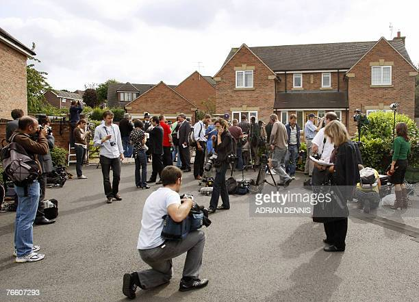 The media assemble outside the McCann's family home in Rothley Leicestershire before the family arrived home from Portugal 09 September 2007 The...