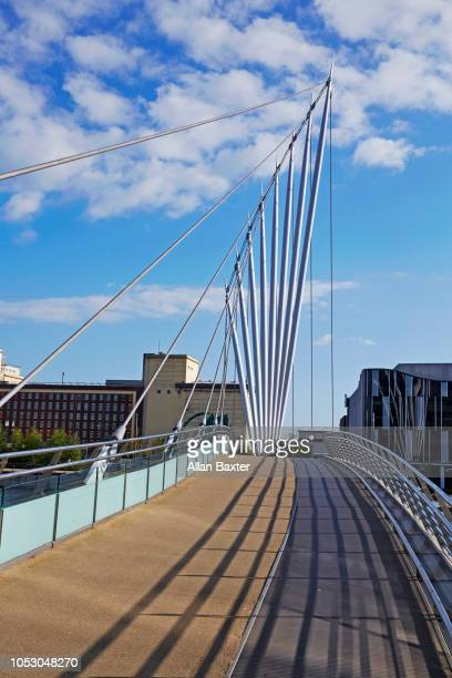 The 'Media city footbridge' in the redeveloped Salford Quays