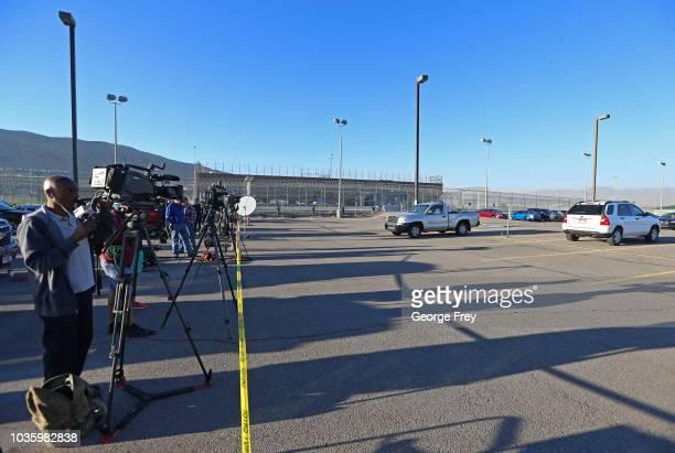 The media gather at the Utah State Prison woman facility on September 19 2018 in Draper Utah Wanda Barzee who helped kidnap Elizabeth Smart in June...