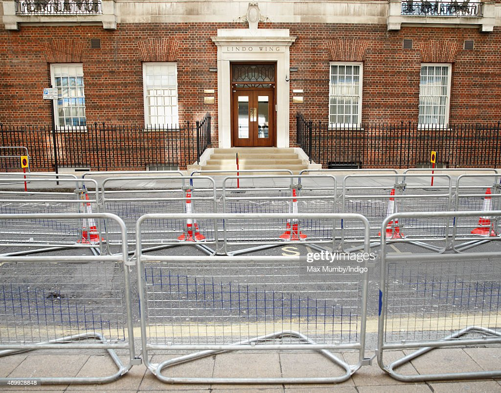 Press Pens Are Erected At The Lindo Wing Ahead Of The Birth Of The Duke And Duchess Of Cambridge's Second Child : News Photo