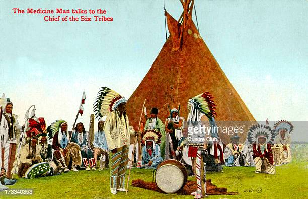 The Medicine Man talks to the Chief of the Six Tribes the Mohawk Oneida Onondaga Cayuga Seneca and Tuscarora nations Published in Canada