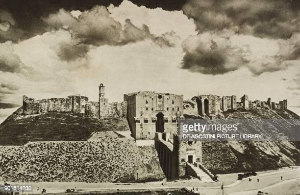The medieval citadel of Aleppo, Syria, photo from L'illustrazione Italiana, year LIX, n 14, April 3, 1932.
