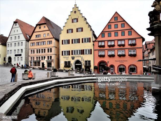 the medieval city rothenburg ob der tauber - rothenburg stock photos and pictures