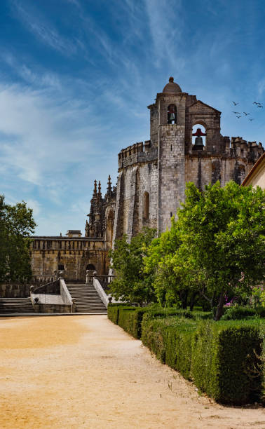 The Medieval Convent of Christ, a former 12th Century Knights Templar stronghold located in Southern Portugal