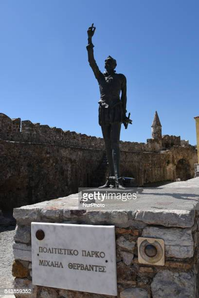 The medieval fortification of Nafpaktos Greece on September 7 2017 Nafpaktos since ancient times a strategic position was used as naval station by...