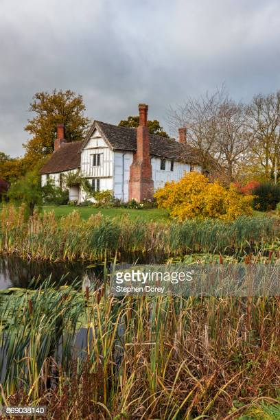 The medieval, moated manor house at Lower Brockhampton, Herefordshire UK