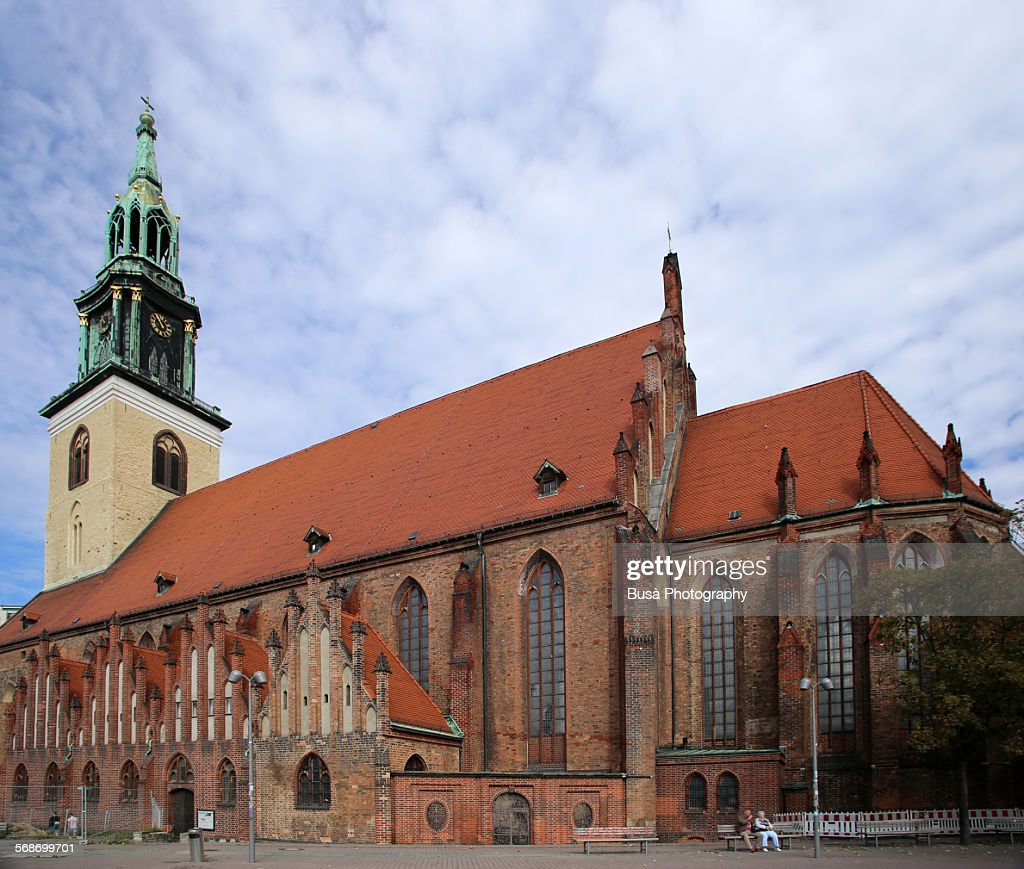 The medieval St. Mary's Church in Berlin : Stock Photo