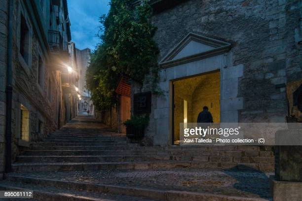 The medieval street that leads to the Cathedral of Girona