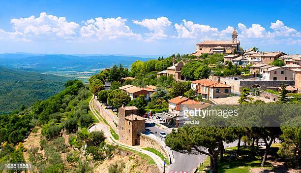 The medieval town of Montalcino