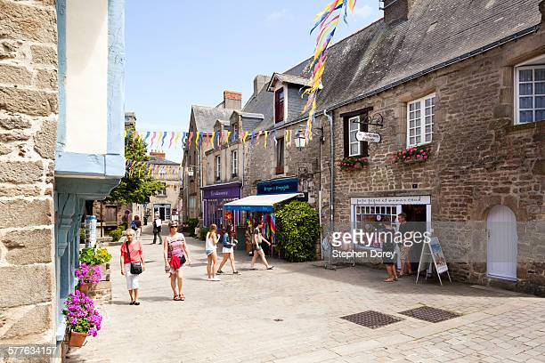 The medieval walled town of Guerande, France