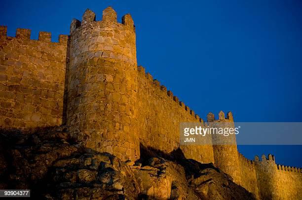 The medieval walls of Avila Autonomous Community of CastileLeon Spain April 2008