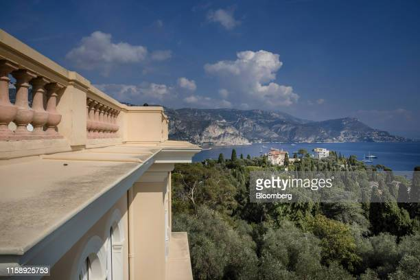 The Mediterranean coastline is seen from the roof top of the Villa Les Cedres a 187yearold000squarefoot 14bedroom mansion set on 35 acres in...
