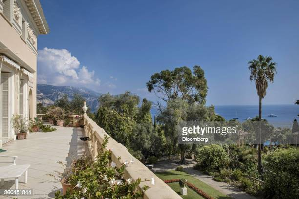 The Mediterranean is seen from the bedroom terrace of the Villa Les Cedres a 187yearold000squarefoot 14bedroom mansion set on 35 acres in...