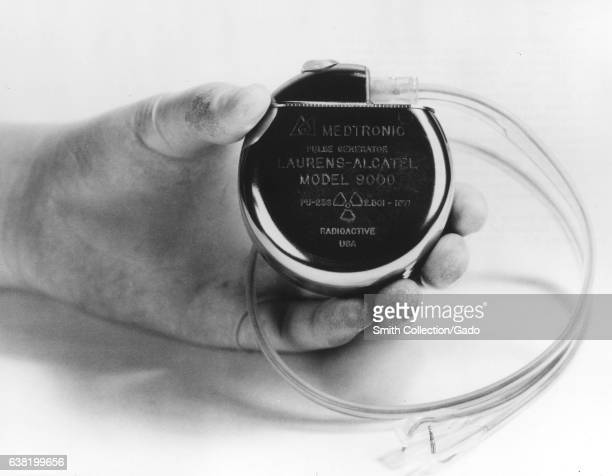The Medtronic cardiac pacemaker containing a Frenchmade sealed source of 150 milligrams of plutonium238 to provide thermoelectric power for the...