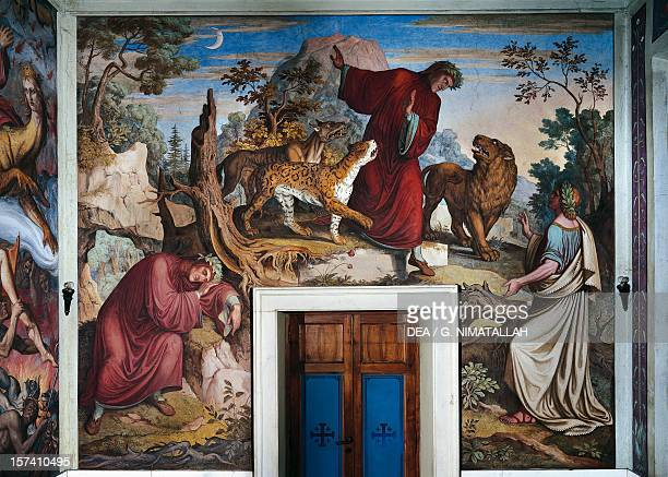 The meeting between Dante and Virgil fresco by Joseph Anton Koch carried out in collaboration with the Nazarene Movement's painters Dante Hall Casino...