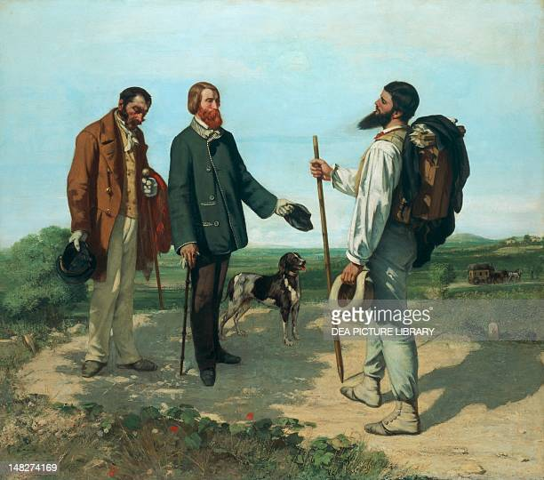 The meeting by Gustave Courbet oil on canvas 129x149 cm Montpellier Musée Fabre