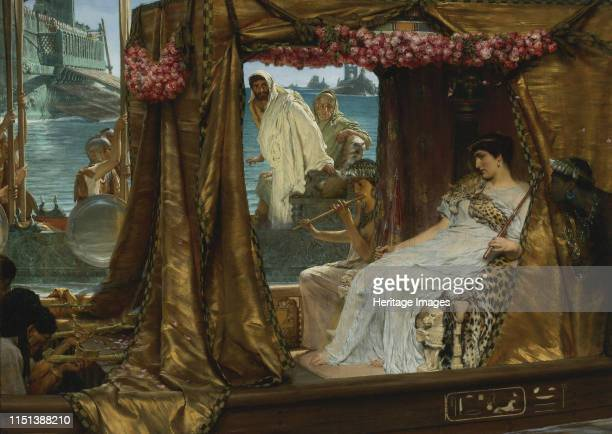 The Meeting of Antony and Cleopatra 1885 From a private collection Artist AlmaTadema Sir Lawrence