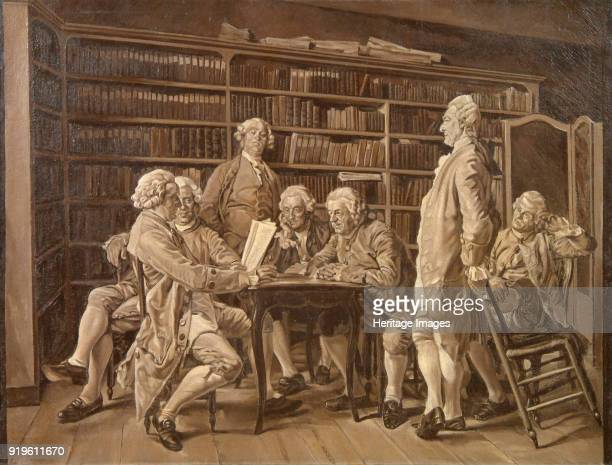 The Meeting of Encyclopédistes at Diderot's Home 1859 Found in the Collection of State Museum of Religious History St Petersburg