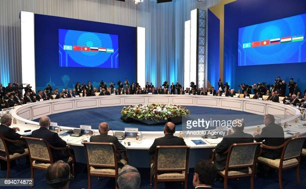 The meeting of the Shanghai Cooperation Organisation Heads of State Council held in Astana Kazakhstan on June 9 2017