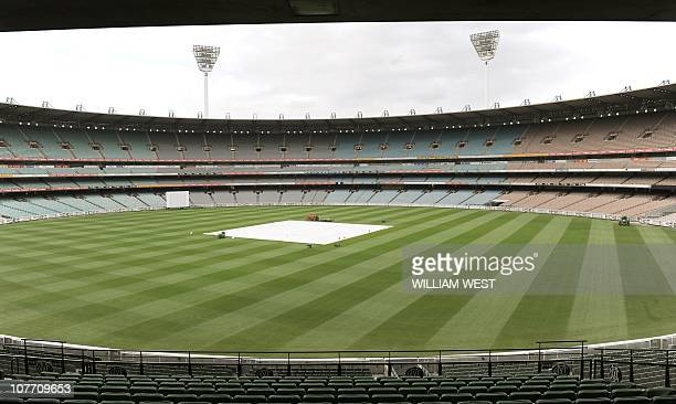 The Melbourne Cricket Ground lies in wait as Cricket Australia chief James Sutherland announces to the media he was confident of attracting the 91000...