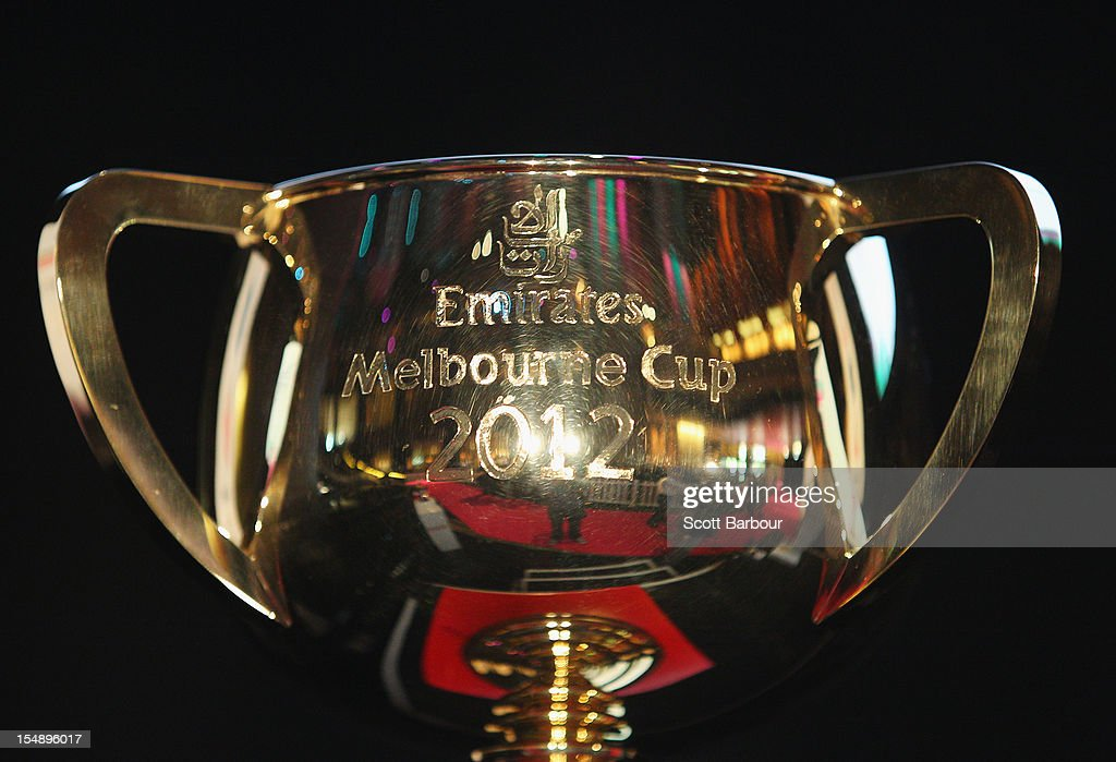 The Melbourne Cup sits on display during the The 2012 Melbourne Cup Carnival Launch at Crown Palladium on October 29, 2012 in Melbourne, Australia.