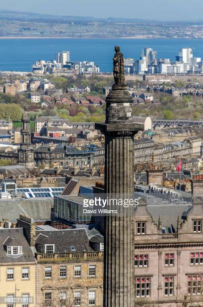 the melville monument sits at the centre of st andrew square, edinburgh, commemorating henry dundas, - statue stock pictures, royalty-free photos & images