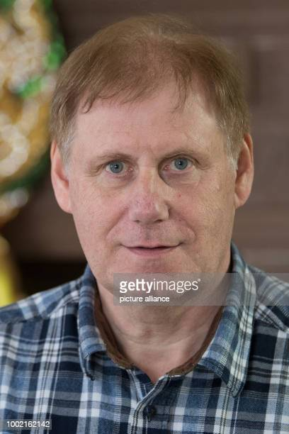 The member of the board of the Buddha Dhamma Bhom Wimutti Association Frank Siemon smiles in Dillich Castle the 'Buddhist Temple for Nirvana' in...