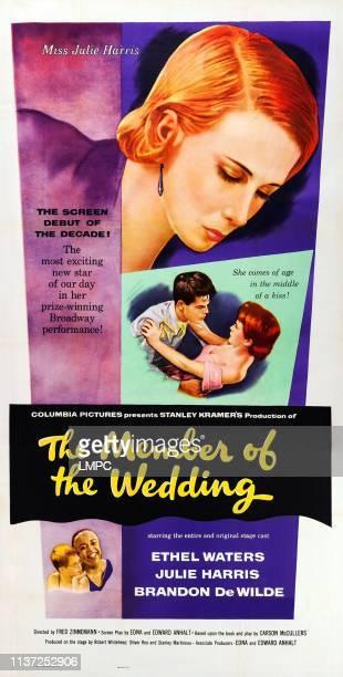 The Member Of The Wedding poster US poster art top inset Dickie Moore Julie Harris bottom inset Brandon De Wilde Ethel Waters 1952