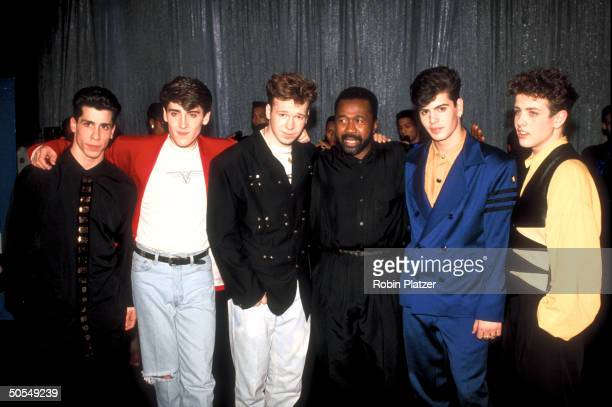 The members from the rock group New Kids on the Block