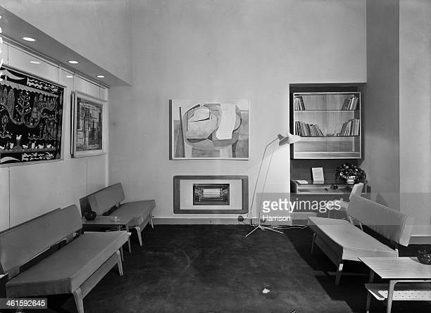 The members' Lounge at the opening of the new premises of the Institute of Contemporary Arts at 17 Dover Street, Piccadilly, London, 13th December...