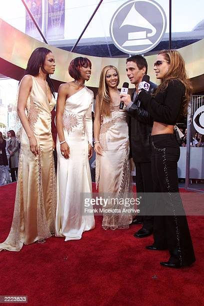 The members of Destiny's Child arrive at the 43rd Annual Grammy Awards at Staples Center in Los Angeles CA on February 21 2001 Photo credit Frank...
