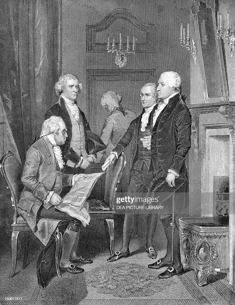 Members of George Washington's first cabinet : News Photo