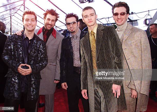 The members of N'Sync arrive at the 43rd Annual Grammy Awards at Staples Center in Los Angeles CA on February 21 2001 Photo credit Frank...