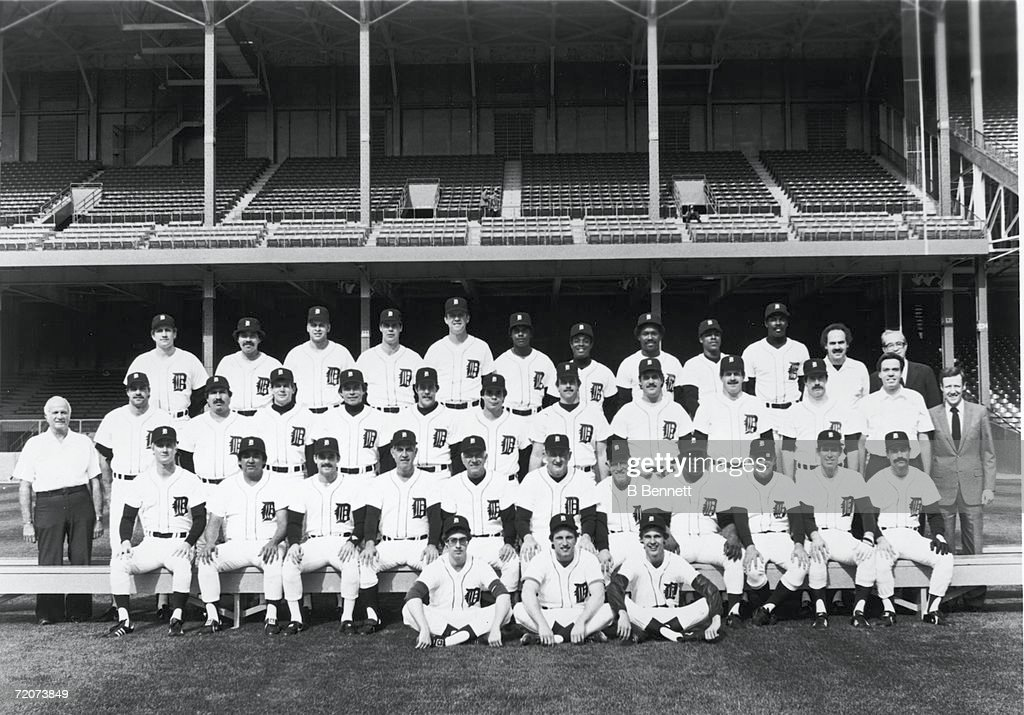 Detroit Tigers Team Portrait : News Photo