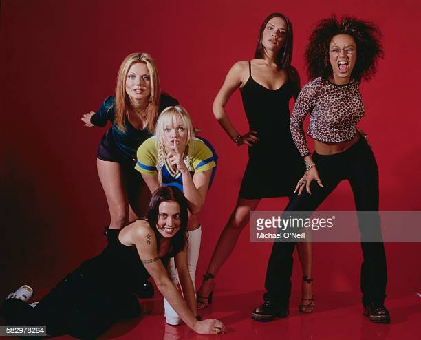 The members of the allgirl music band Spice Girls are Geri Halliwell Melanie Chisholm Emma Bunton Victoria Addams and Melanie Brown