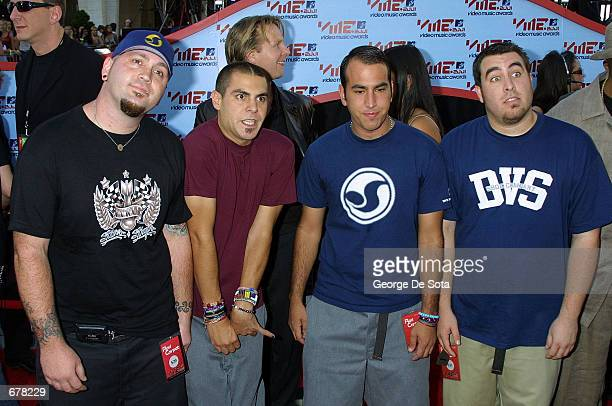 The members of the band Alien Ant Farm at the MTV Video Music Awards September 6 2001 in New York City