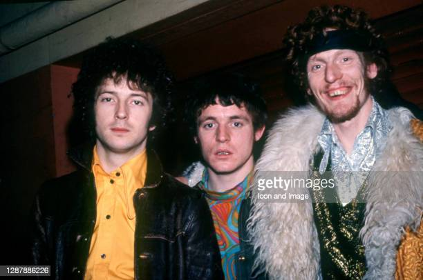 The members of the English supergroup Cream, English guitarist, singer, and songwriter Eric Clapton, Scottish bass player, singer and songwriter Jack...