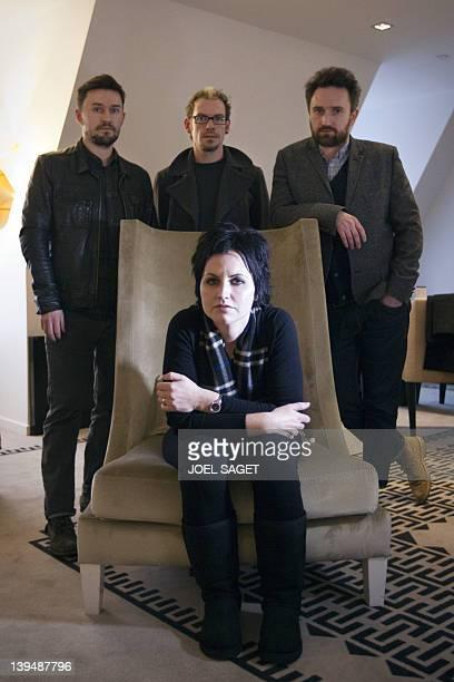 The members of the Irish rock band The Cranberries singer Dolores O'Riordan bassist Mike Hogan drummer Fergal Lawler and guitar player Noel Hogan...