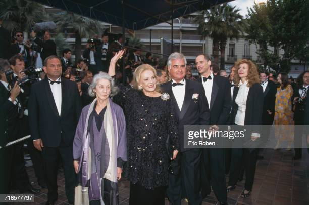 The members of the jury at the opening of the 48th Cannes Film Festival Cannes France 17th May 1995 Left to right South African writer Nadine...