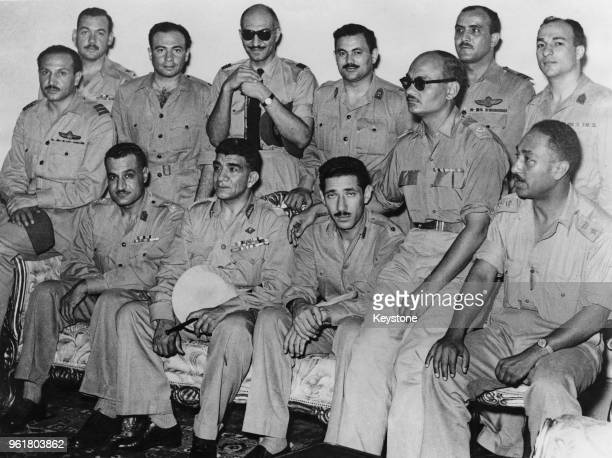 The members of the Military Revolutionary Council proclaim Egypt as a Republic in Cairo having deposed the infant King Fuad II 20th June 1953 From...