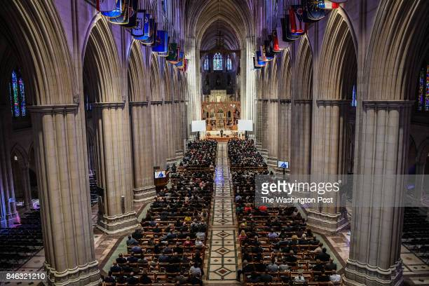 The memorial celebration service for Jim Vance was attended by a large crowd of people at the Washington National Cathedral on Tuesday September 12...