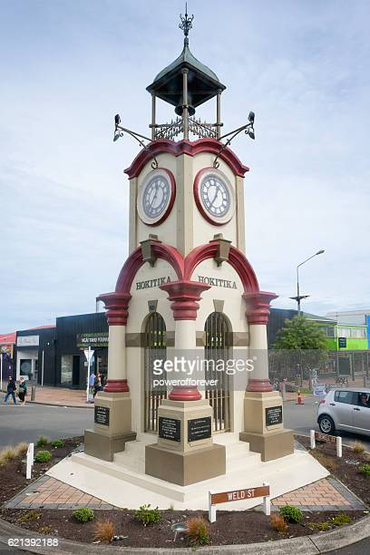 The Memorial Clock Tower in Hokitika, New Zealand