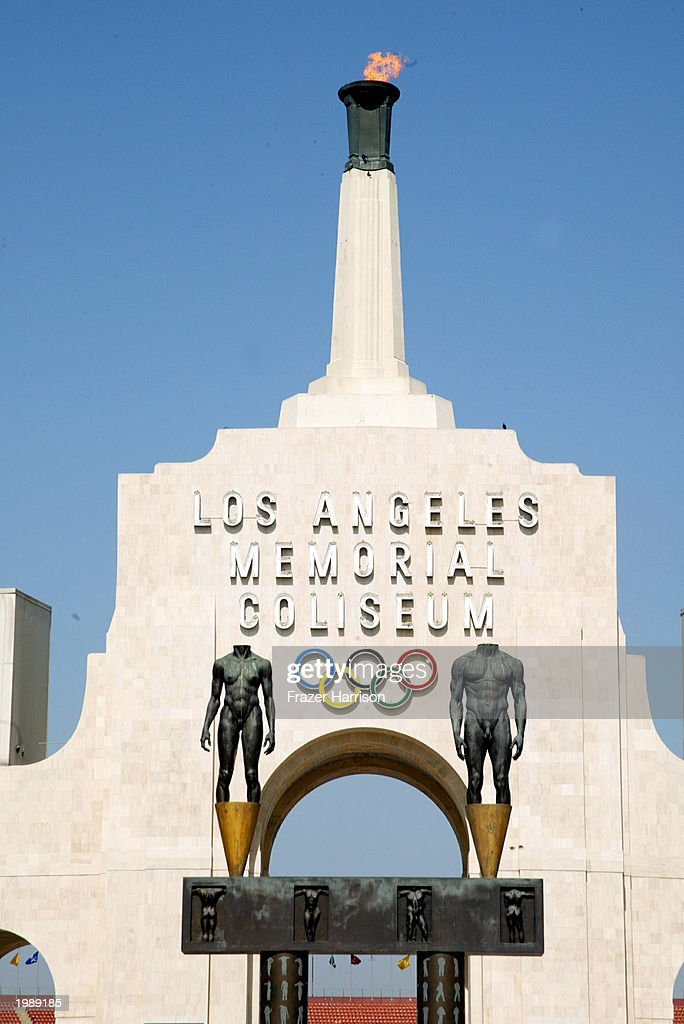 The LA Memorial Coliseum served as the start of the Revlon Run/Walk For Women May 10, 2003 in Los Angeles, California.