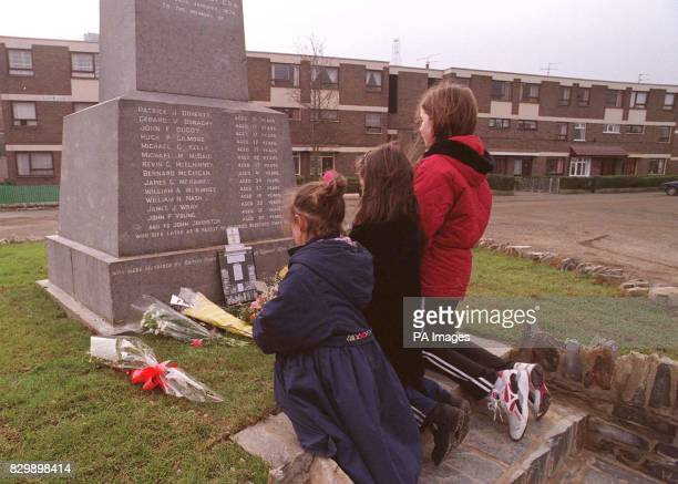 The Memorial for the victims of Bloody Sunday in Londonderry is the object of a steady stream of people laying flowers and wreaths today including...