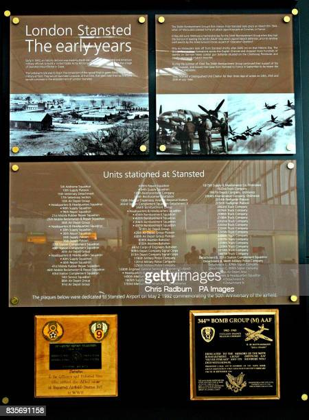 The memorial plaque unveiled by the Band of Brothers veterans of Easy Company 506th Parachute Infantry Regiment Buck Compton Ed Tipper Bradford...